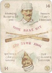 1889 Edgerton R. Williams Game #2 Dan Brouthers/Arlie Latham