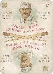 1889 Edgerton R. Williams Game #10 Pud Galvin/Dave Orr