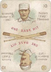 1889 Edgerton R. Williams Game #13 Dummy Hoy/John Reilly