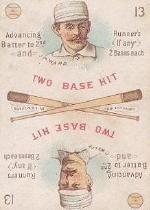 1889 Edgerton R. Williams Game #19 Mickey Ward/Curt Welch