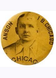 1898 Cameo Pepsin Gum Pins #1 Cap Anson