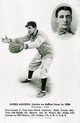 1908 Buffalo Bisons F.J. Offerman #1 James Archer