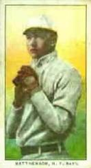 1909 Philadelphia Caramel E95 #16 Christy Mathewson