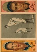 1912 Hassan Triple Folders T202 #28 Chase Guarding First/Lefty Leifield/George Gibson
