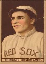 1912 T207 Brown Background #78 Olaf Henriksen