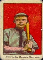 1915 American Caramel E106 #17 Johnny Evers