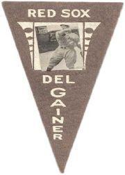 1916 Ferguson Bakery Felt Pennants BF2 #3 Del Gainer