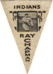 1916 Ferguson Bakery Felt Pennants BF2 #22 Ray Chapman