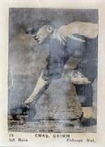 1927 American Caramel E126 #19 Charlie Grimm