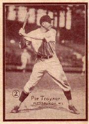1931 W517 #2 Pie Traynor