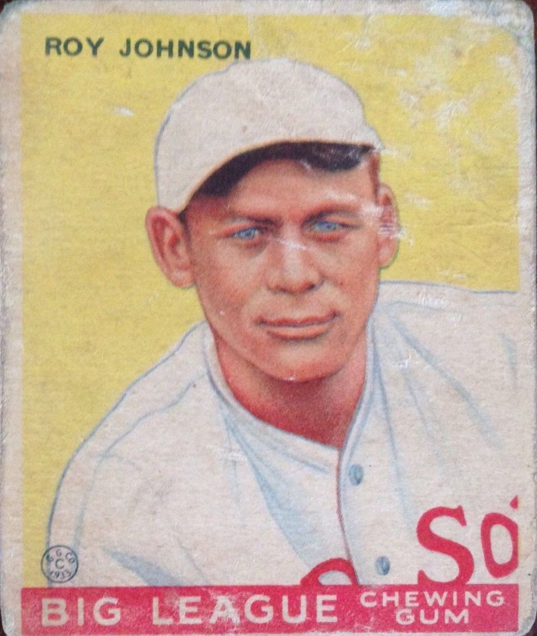 1933 Goudey #8 Roy Johnson RC