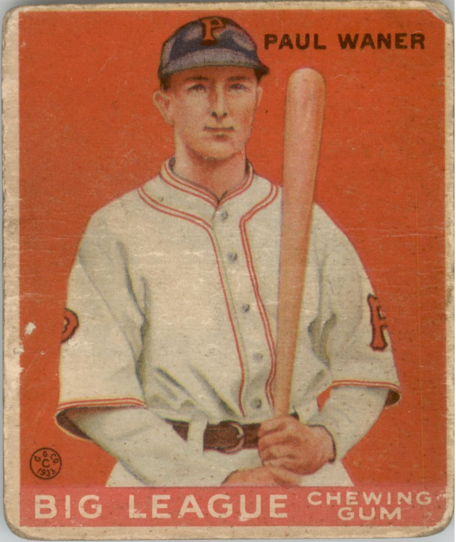 1933 Goudey #25 Paul Waner RC