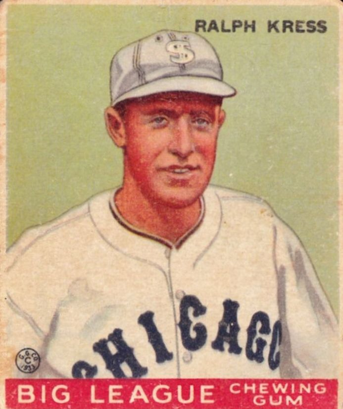 1933 Goudey #33 Ralph Kress RC