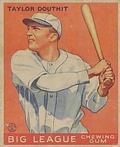 1933 Goudey #40 Taylor Douthit RC