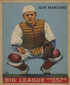 1933 Goudey #41 Gus Mancuso CATCH RC