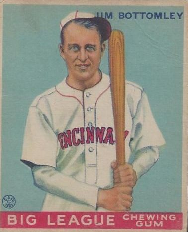 1933 Goudey #44 Jim Bottomley RC