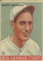 1933 Goudey #48 Marty McManus RC