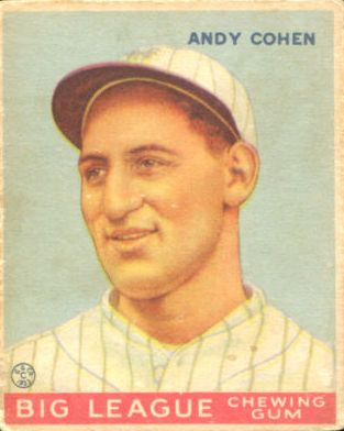 1933 Goudey #52 Andy Cohen RC