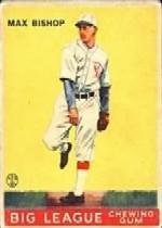 1933 Goudey #61 Max Bishop RC