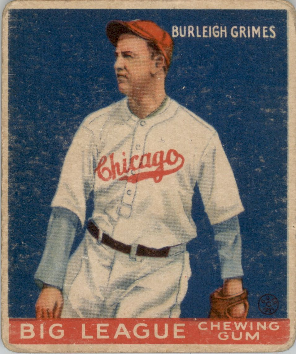 1933 Goudey #64 Burleigh Grimes RC