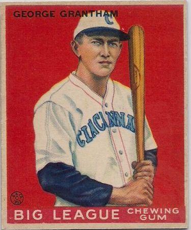 1933 Goudey #66 George Grantham RC
