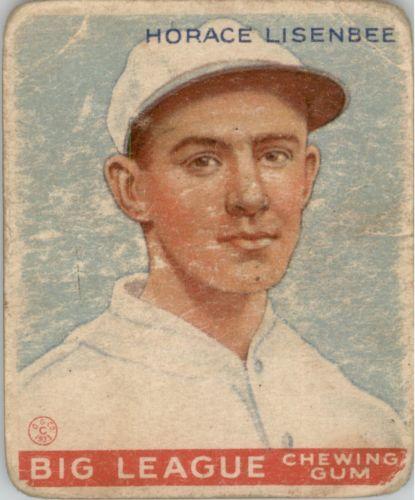 1933 Goudey #68 Horace Lisenbee RC