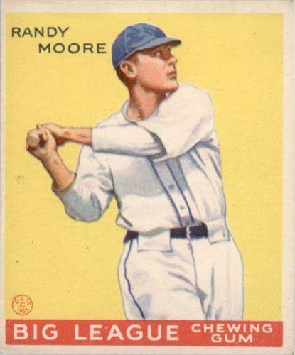 1933 Goudey #69 Randy Moore RC