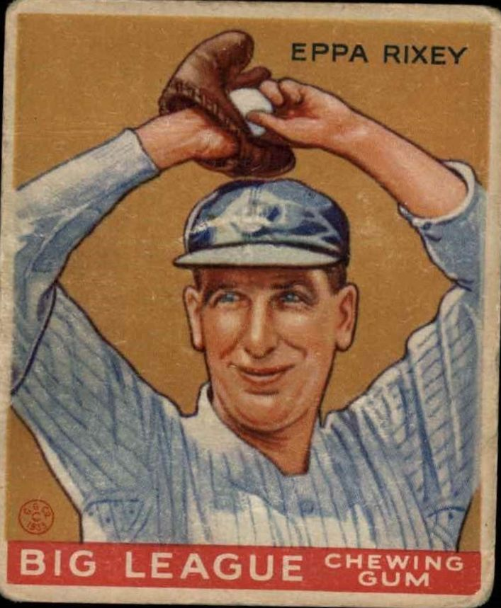 1933 Goudey #74 Eppa Rixey RC