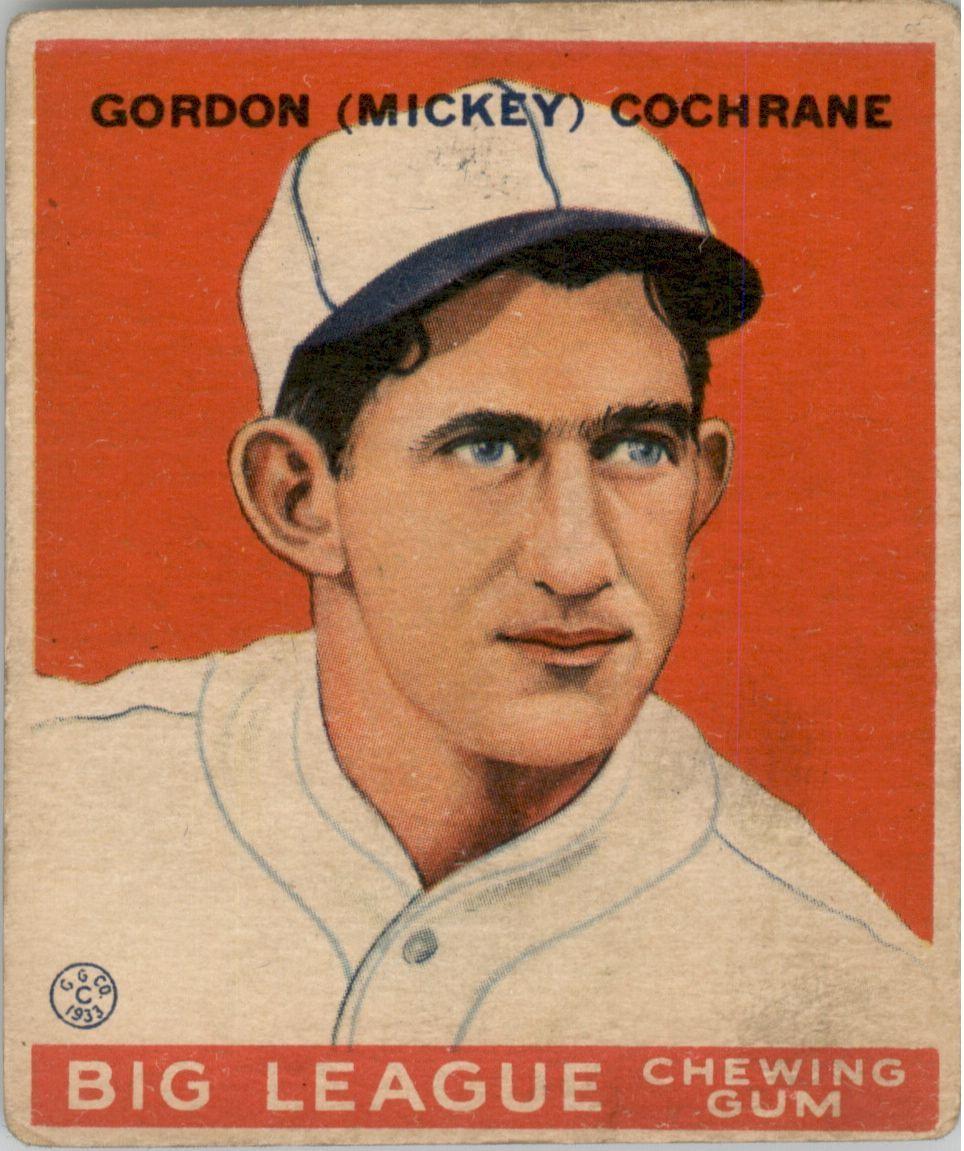 1933 Goudey #76 Mickey Cochrane RC