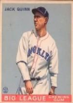 1933 Goudey #78 Jack Quinn RC