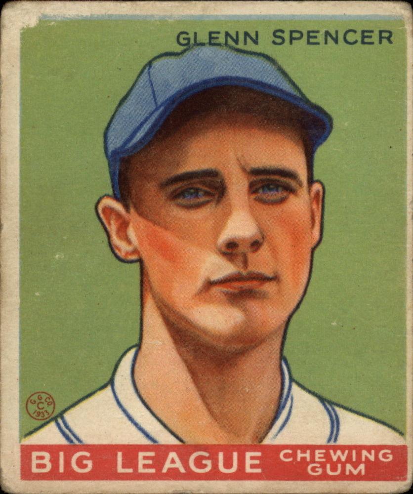 1933 Goudey #84 Glenn Spencer RC