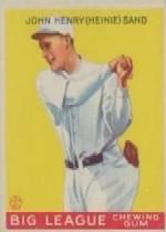 1933 Goudey #85 Heinie Sand RC
