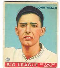 1933 Goudey #93 John Welch RC