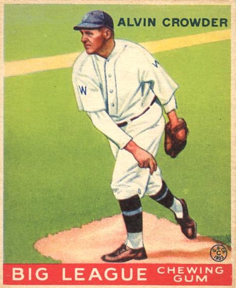 1933 Goudey #95 Alvin Crowder RC