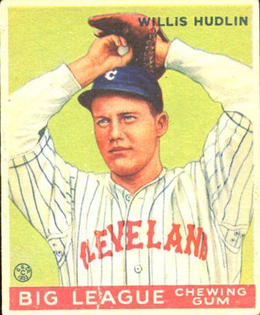 1933 Goudey #96 Willis Hudlin RC