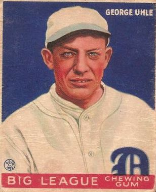 1933 Goudey #100 George Uhle RC