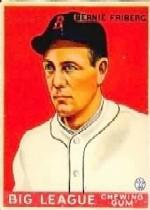 1933 Goudey #105 Bernie Friberg RC