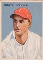 1933 Goudey #111 Monte Weaver RC
