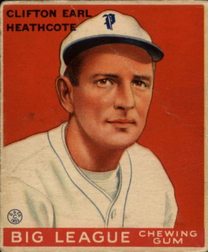 1933 Goudey #115 Cliff Heathcote RC