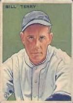 1933 Goudey #125 Bill Terry RC