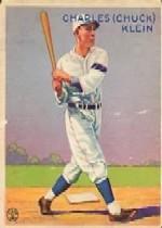 1933 Goudey #128 Chuck Klein RC