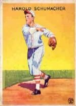 1933 Goudey #129 Hal Schumacher PIT RC