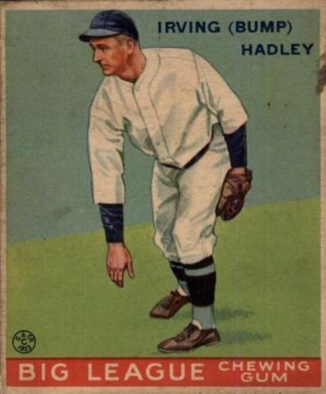 1933 Goudey #140 Bump Hadley RC