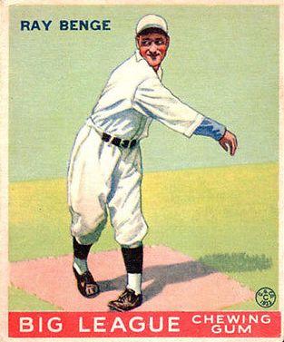 1933 Goudey #141 Ray Benge RC