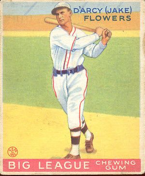 1933 Goudey #151 Jake Flowers RC