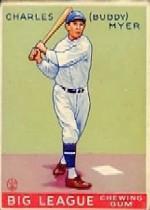 1933 Goudey #153 Buddy Myer RC