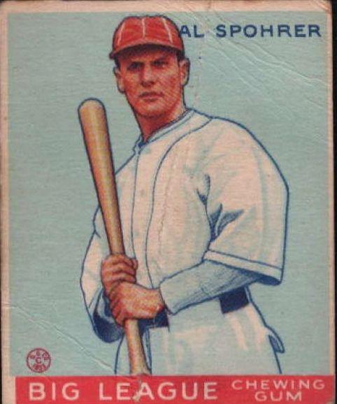 1933 Goudey #161 Al Spohrer RC
