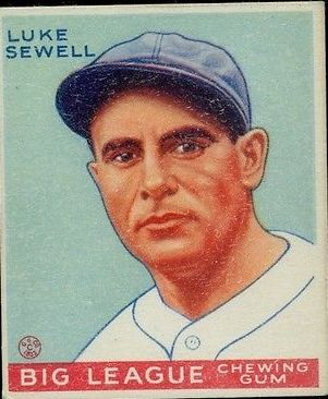 1933 Goudey #163 Luke Sewell POR RC