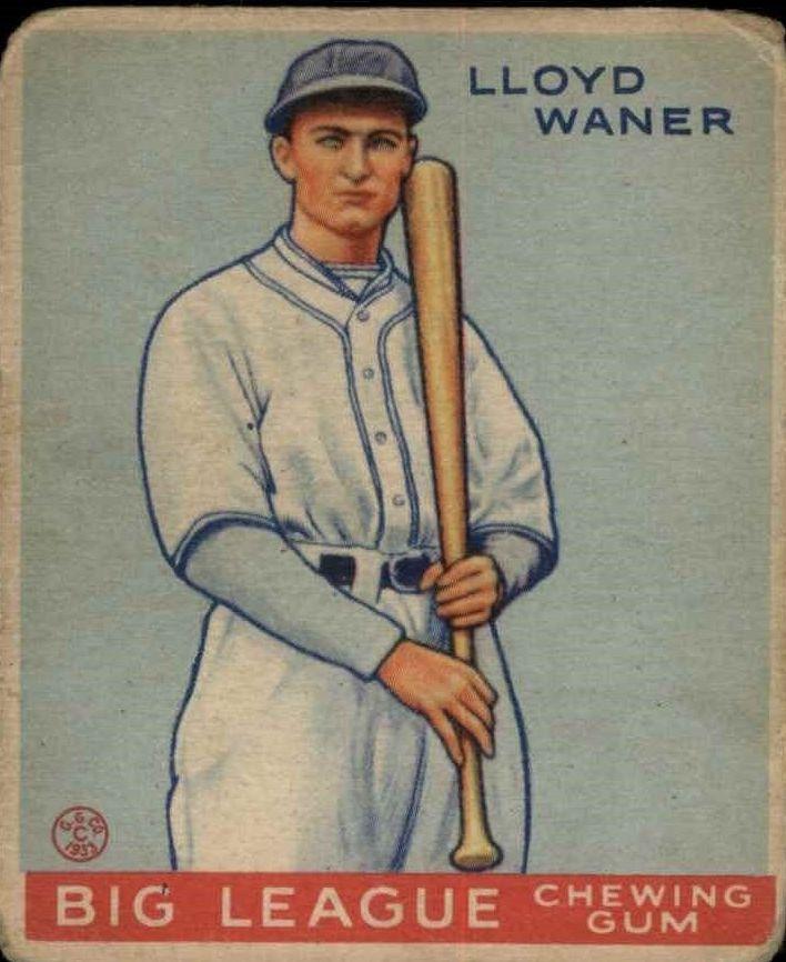 1933 Goudey #164 Lloyd Waner RC