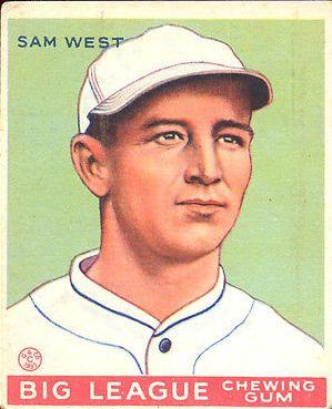 1933 Goudey #166 Sam West RC
